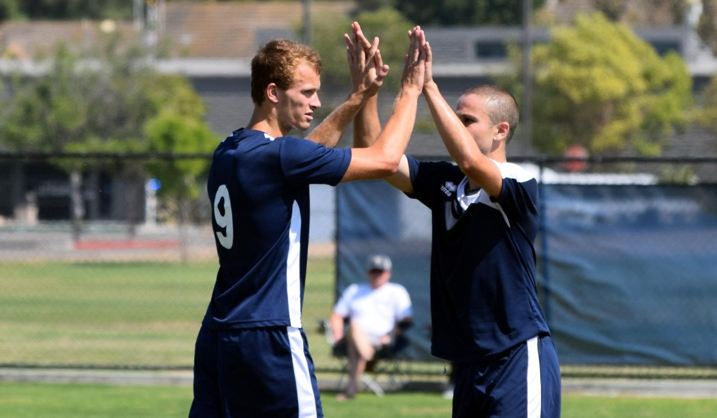 Men's soccer team starts conference play with a road victory