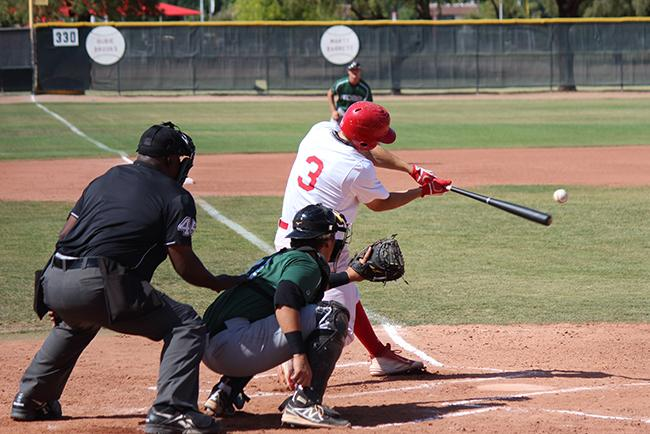 Jordan Zimmerman's three-run homer gave Mesa an early lead (Photo by Aaron Webster)