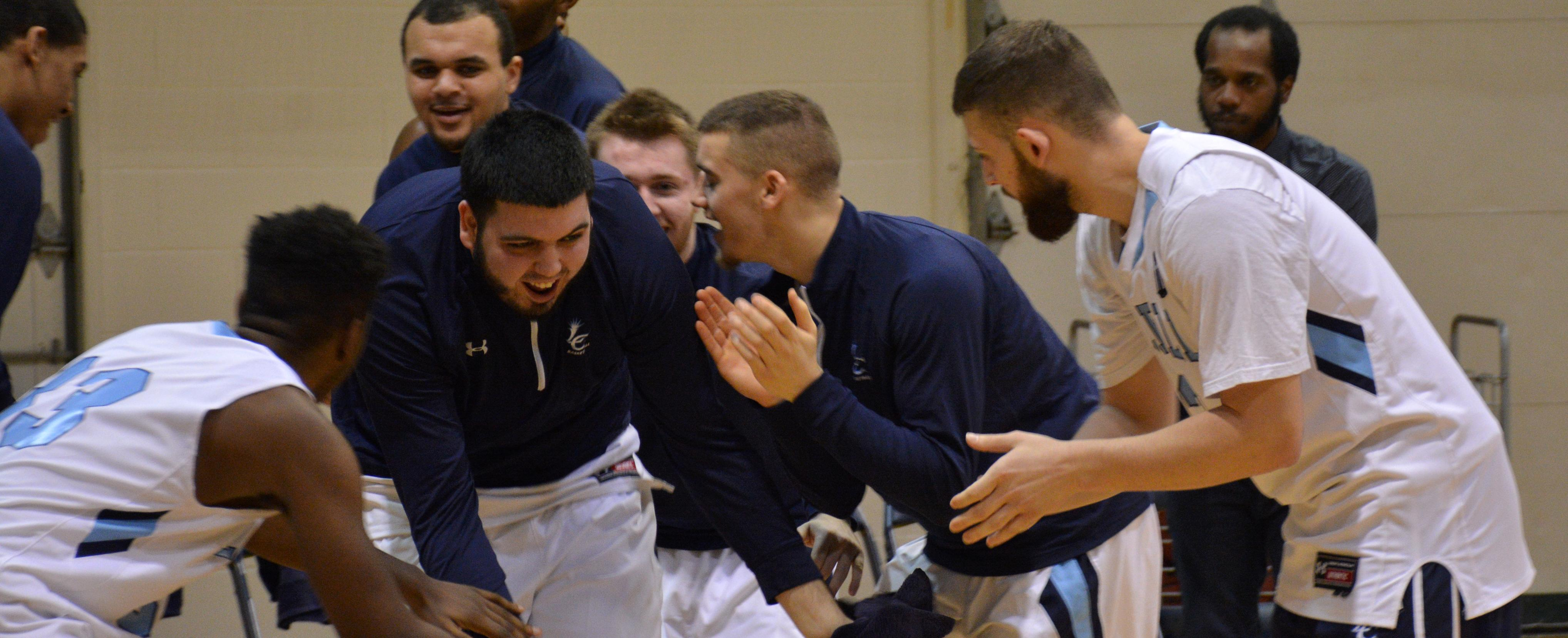 Men's Basketball Hangs on for 80-75 Victory Against St. Joe's