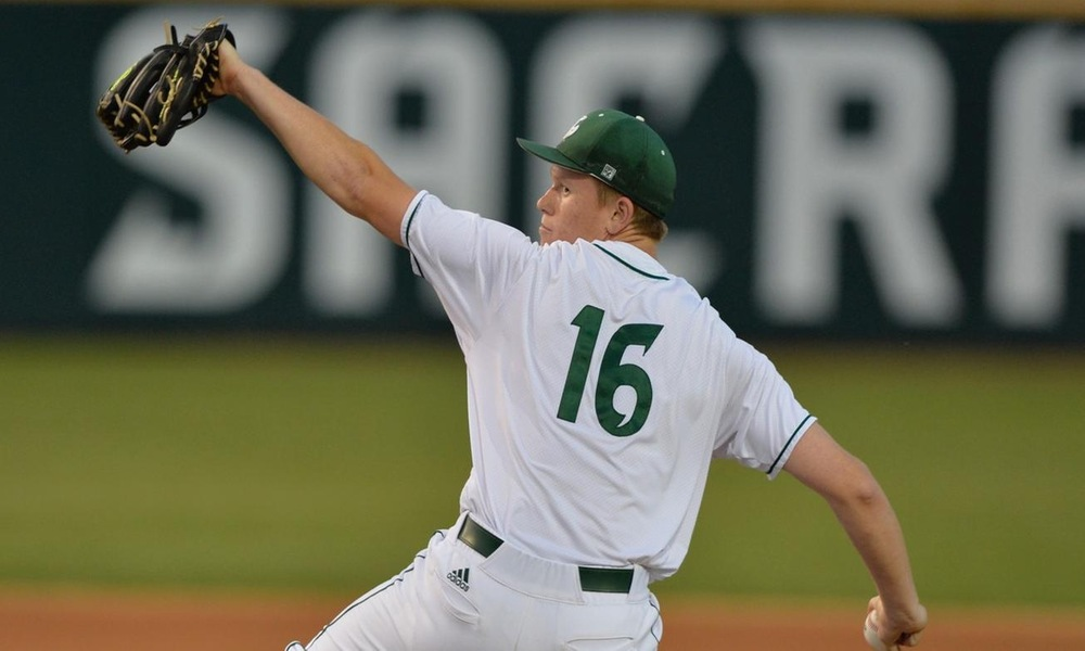 BRAHMS SETS PROGRAM RECORD WITH 14 STRIKEOUTS IN BASEBALL'S 5-0 SHUTOUT WIN