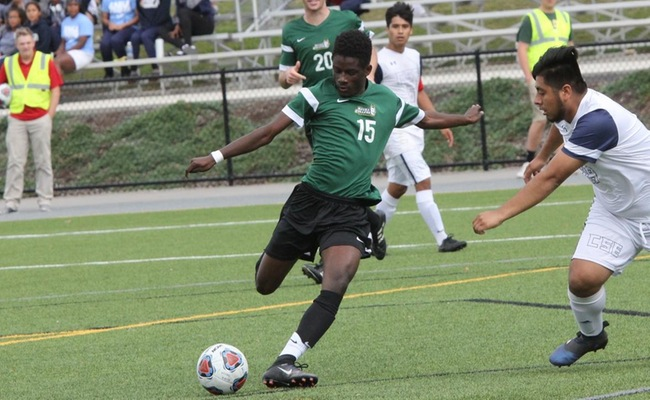 Samba Doukhansy (15) scored a pair of goals for Keuka College on Saturday