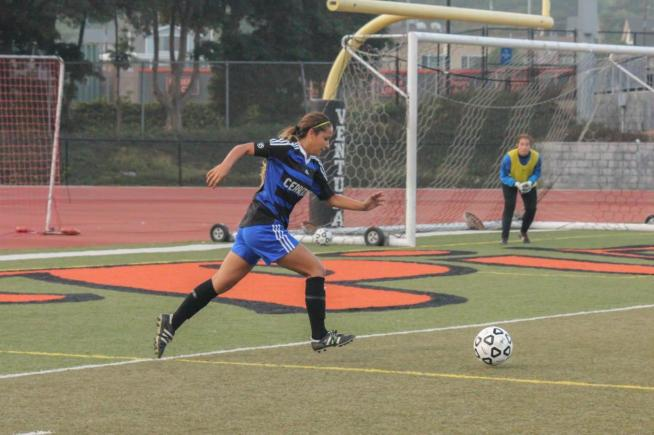 File Photo: Lauren Nanez (7) scored twice and assisted on a third goal in the Falcons 7-0 win over El Camino.
