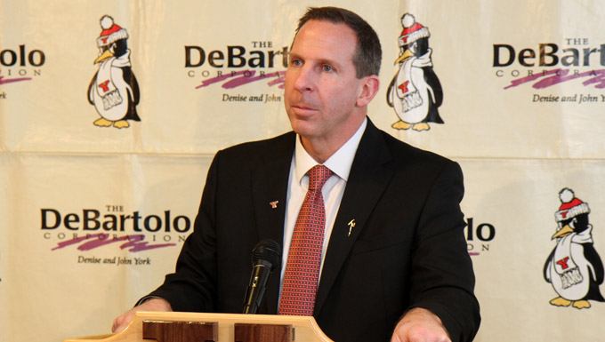 Bo Pelini took over the YSU football program on Wednesday (Photo by Ron Stevens)