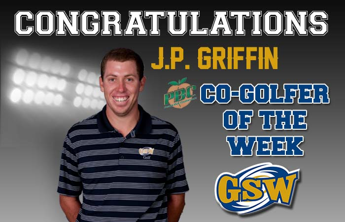 GSW's J.P. Griffin Honored as the Peach Belt Conference co-Golfer of the Week