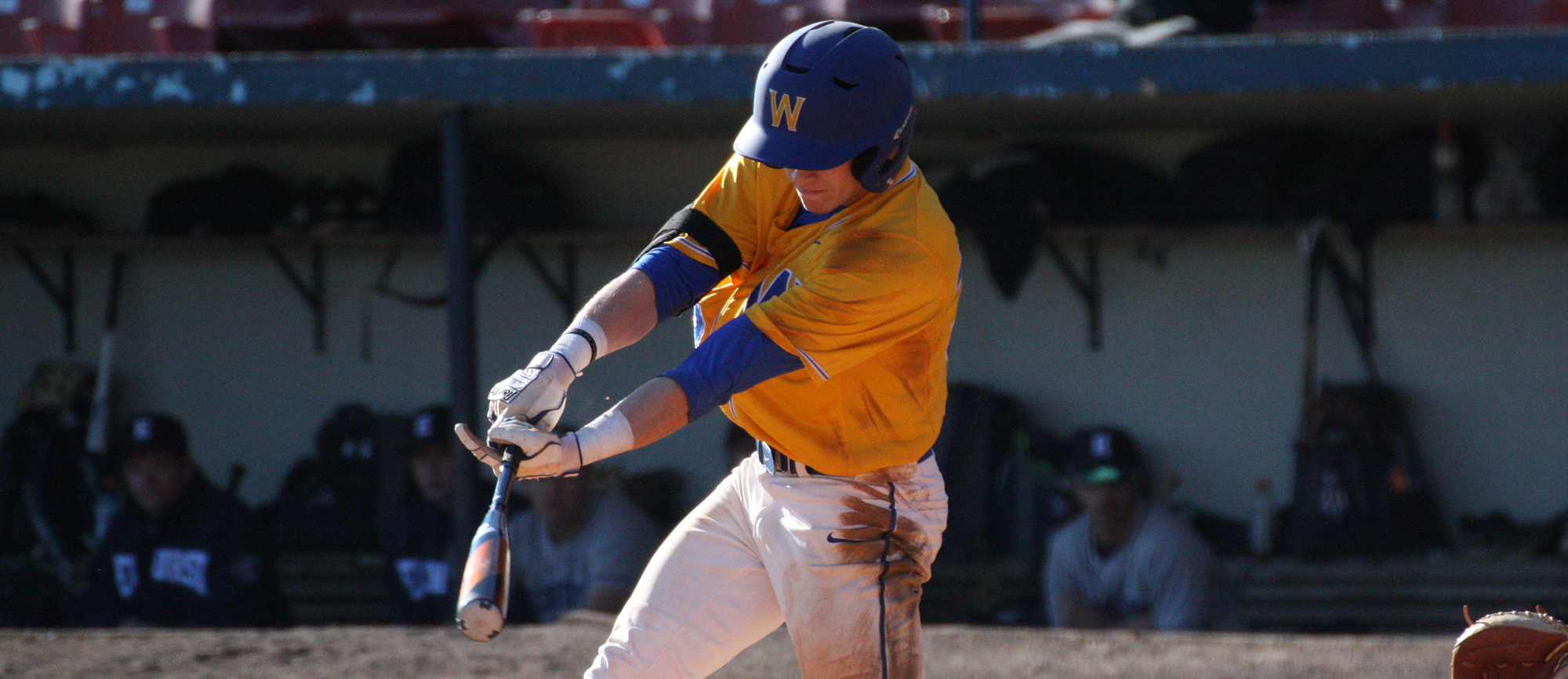 Junior Joe Cassella went 2-for-2 with one RBI in the Golden Bears' 11-1 loss to Mitchell on Friday. (Photo by Jeff Rosenblatt)