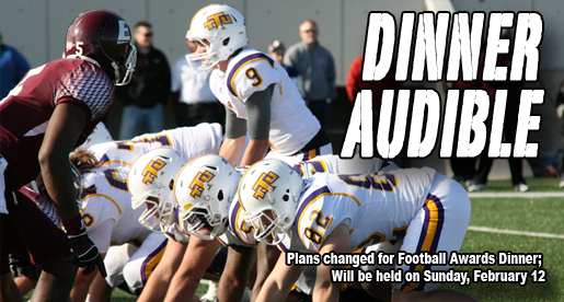 Football Awards Dinner moved to Sunday, February 12