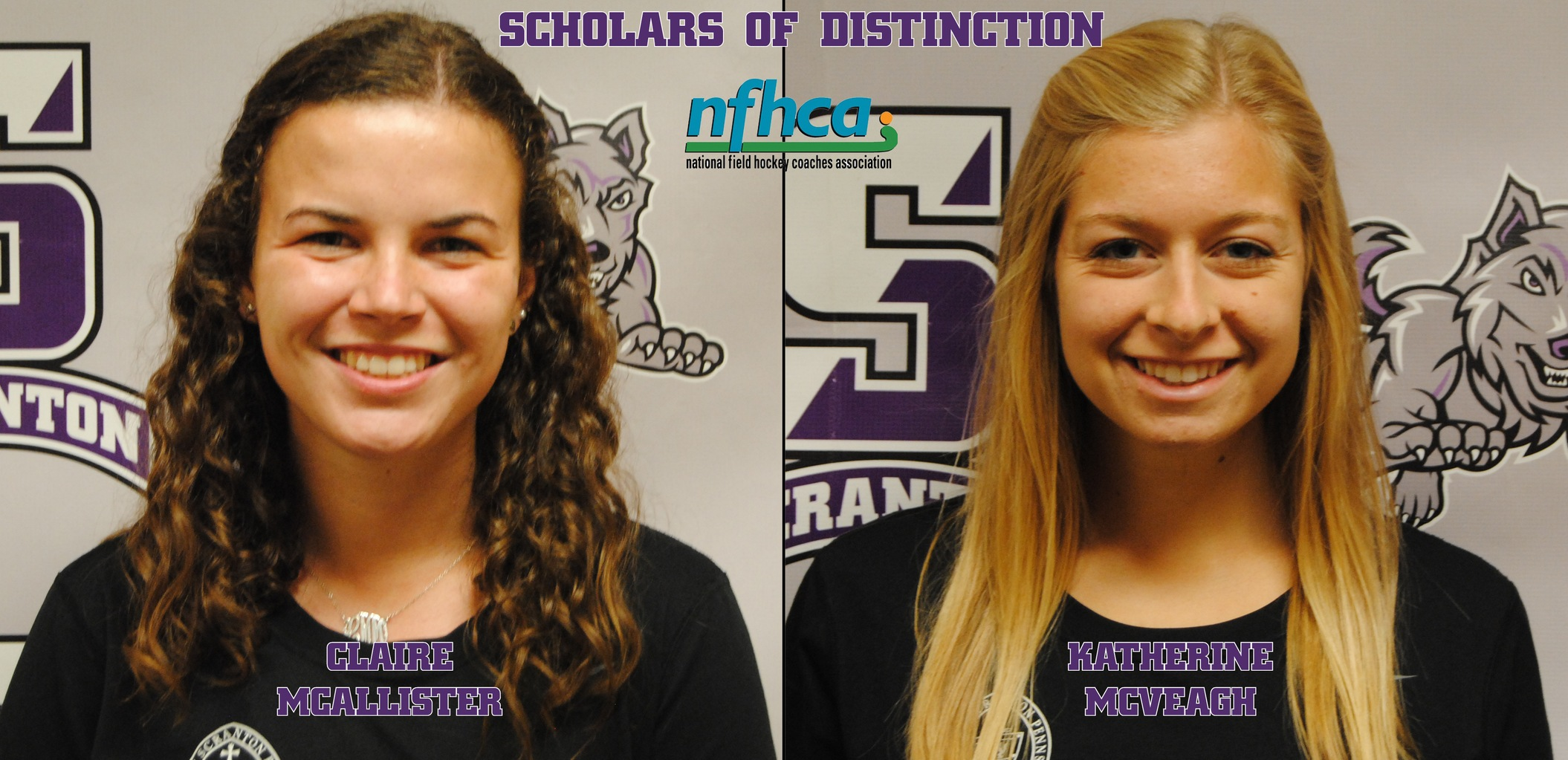 McAllister, McVeagh Earn NFHCA Scholar of Distinction Award; 12 Named to National Academic Squad