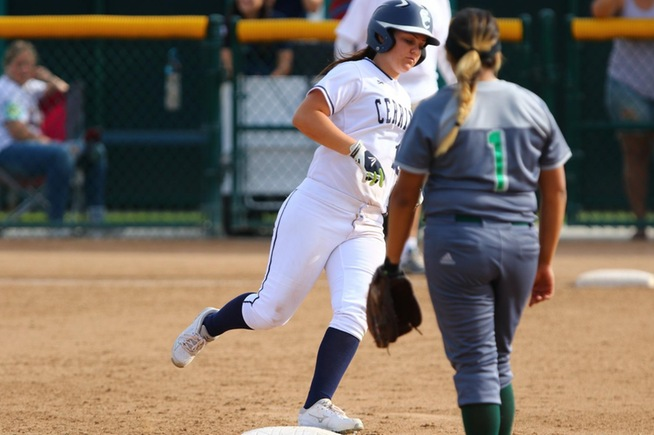 Kylee Brown rounds the bases on the first of her two home runs against East Los Angeles