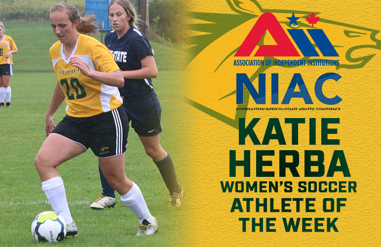 Katie Herba Named AII, NIAC Athlete of the Week