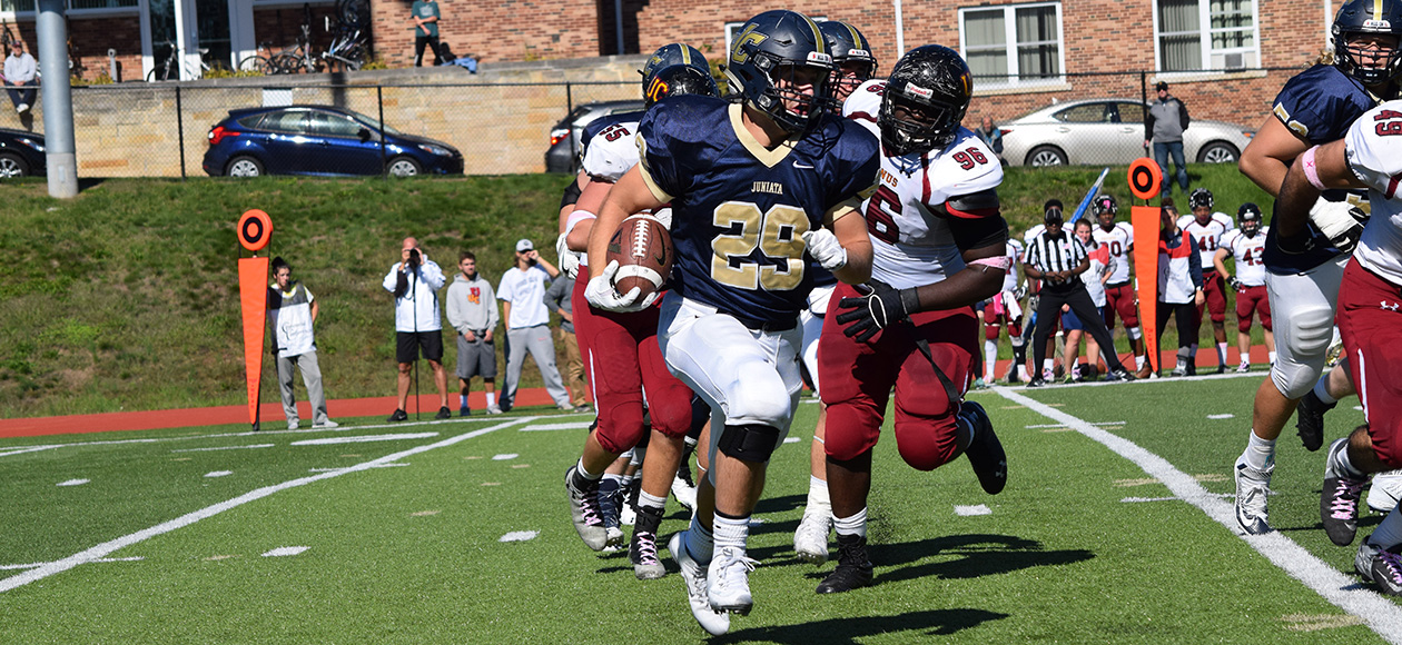 Matt Lehr rushed for 177 yards and two touchdowns on the afternoon.