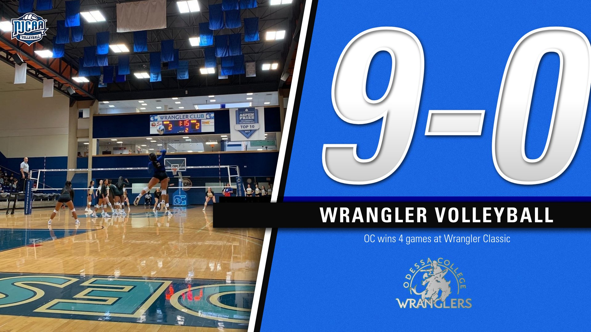 Volleyball goes a perfect 4-0 at Wrangler Classic