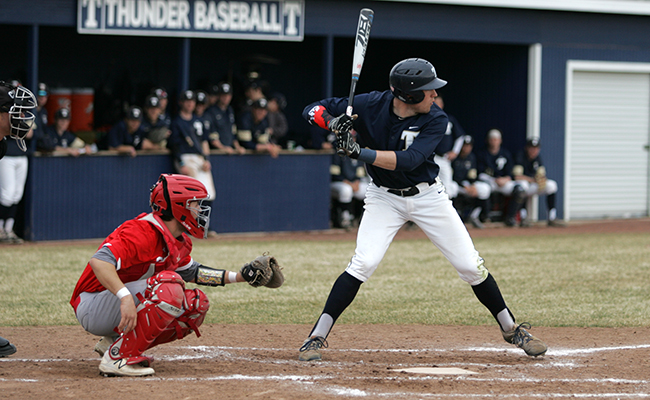 Baseball Takes Split to Begin Albion Series