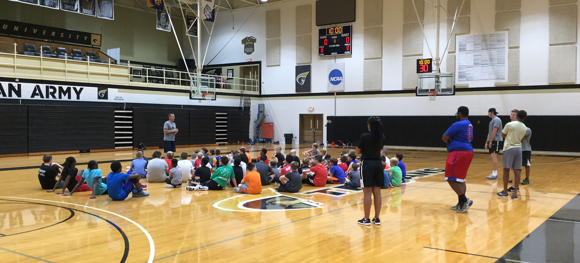 Record Turnout for Basketball Camp