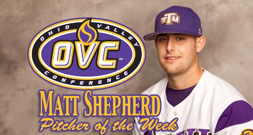 Shepherd named Pitcher of the Week after his performance against YSU