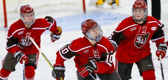 saint lawrence women Boston college women's hockey bounced back on saturday with a resounding 6-3 victory over st lawrence, giving senior goaltender katie burt her 100th career victory.