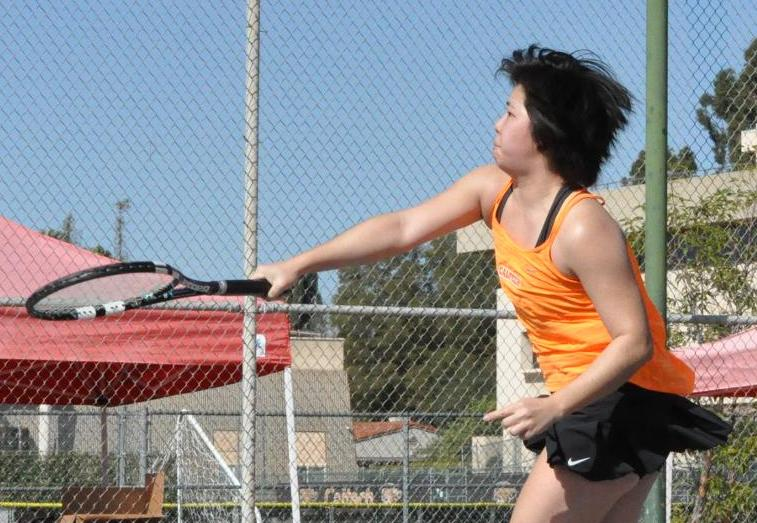 Shorthanded Women's Tennis Drops Tight 5-4 Battle at Chapman