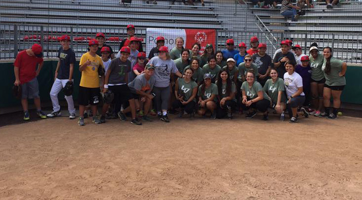 Softball hosts Special Olympics softball clinic