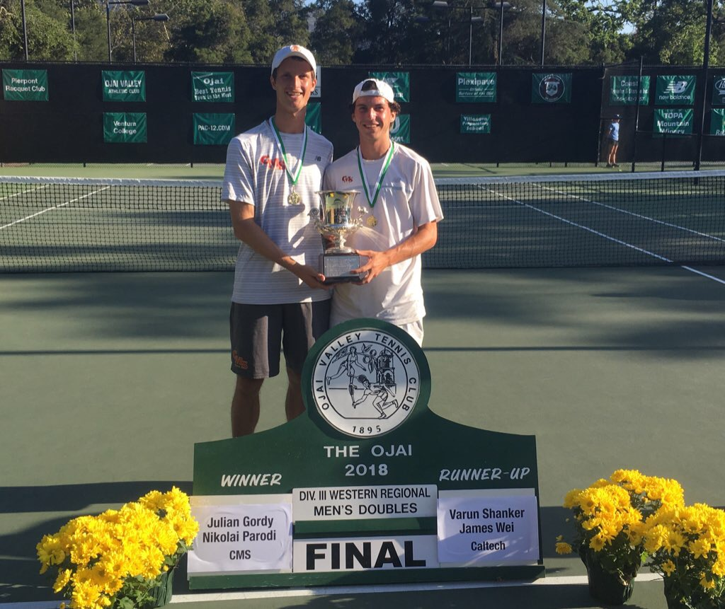 Julian Gordy and Nikolai Parodi - 2018 Ojai D3 Doubles Champions