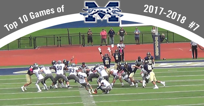 Jon Miller '19 kicks a game-winning field goal at Juniata College for a win in the final seconds and the No. 7 entry on the Top 10 Exciting Games of 2017-18.