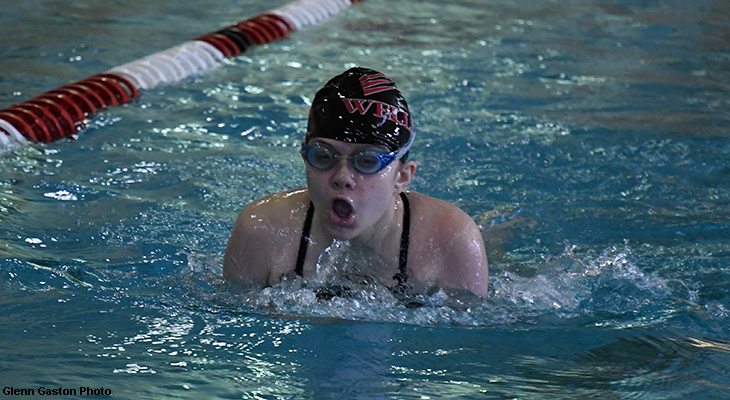 Women's Swimming Shows Well In Home-Opener