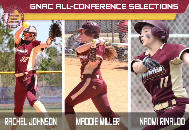 Softball - GNAC All-Conference selections - Rachel Johnson, Maddie Miller and Naomi Rinaldo
