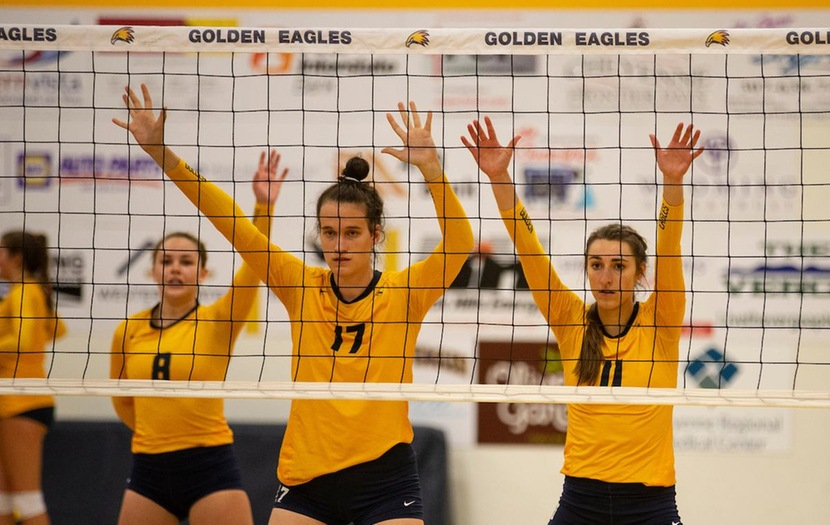 Golden Eagles Volleyball Win In Straight Sets Against Sheridan College