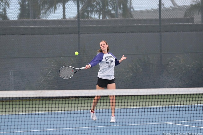 Moa Lindstrom reached the conference finals in both singles and doubles