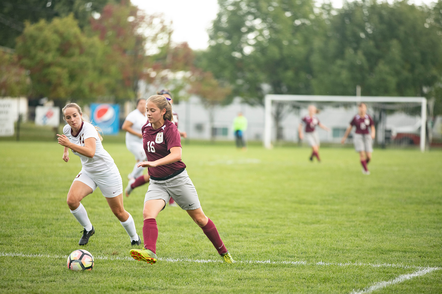 Abigail Speichinger scored a hat trick for the Eagles in a 10-1 win over Iowa Wesleyan. Photo Credit: Brittany Appell