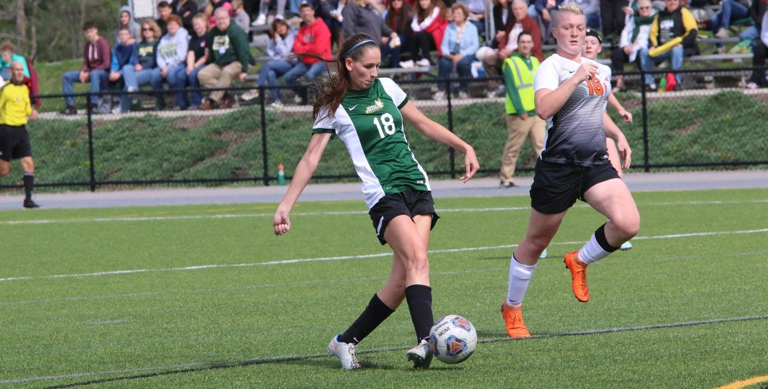 Senior Danielle DeSimone (18) scored a pair of goals on Saturday -- Photo by Ed Webber