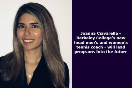 Joanna Ciavarella appointed as Berkeley College's head men's and women's tennis coach
