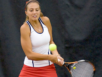 Ferris' Natalie Diorio helped the Bulldogs to a win in their spring opener