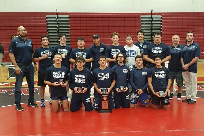 The Falcons took second place at the state team dual championships