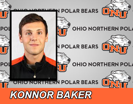 Junior Konnor Baker scores a team-high 16 to lead Men's Basketball in loss to No. 16 John Carroll