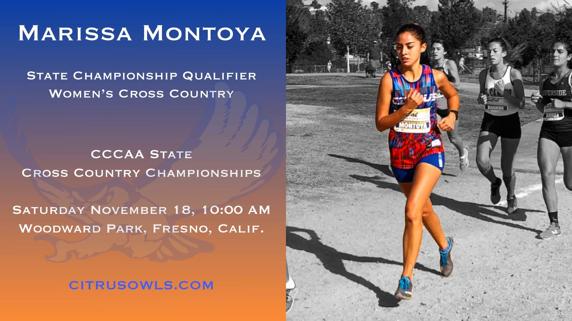 Montoya Dashes Her Way To CCCAA State Championships