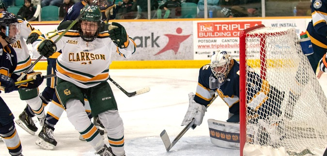 Dunne scores twice in Clarkson win over Canisius