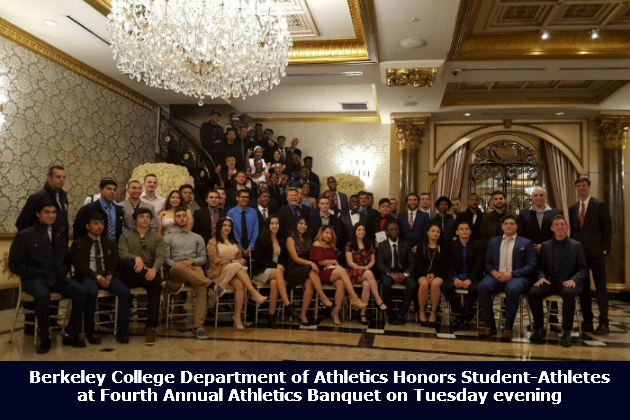 Berkeley College student-athletes honored Tuesday evening at Fourth Annual Athletics Banquet