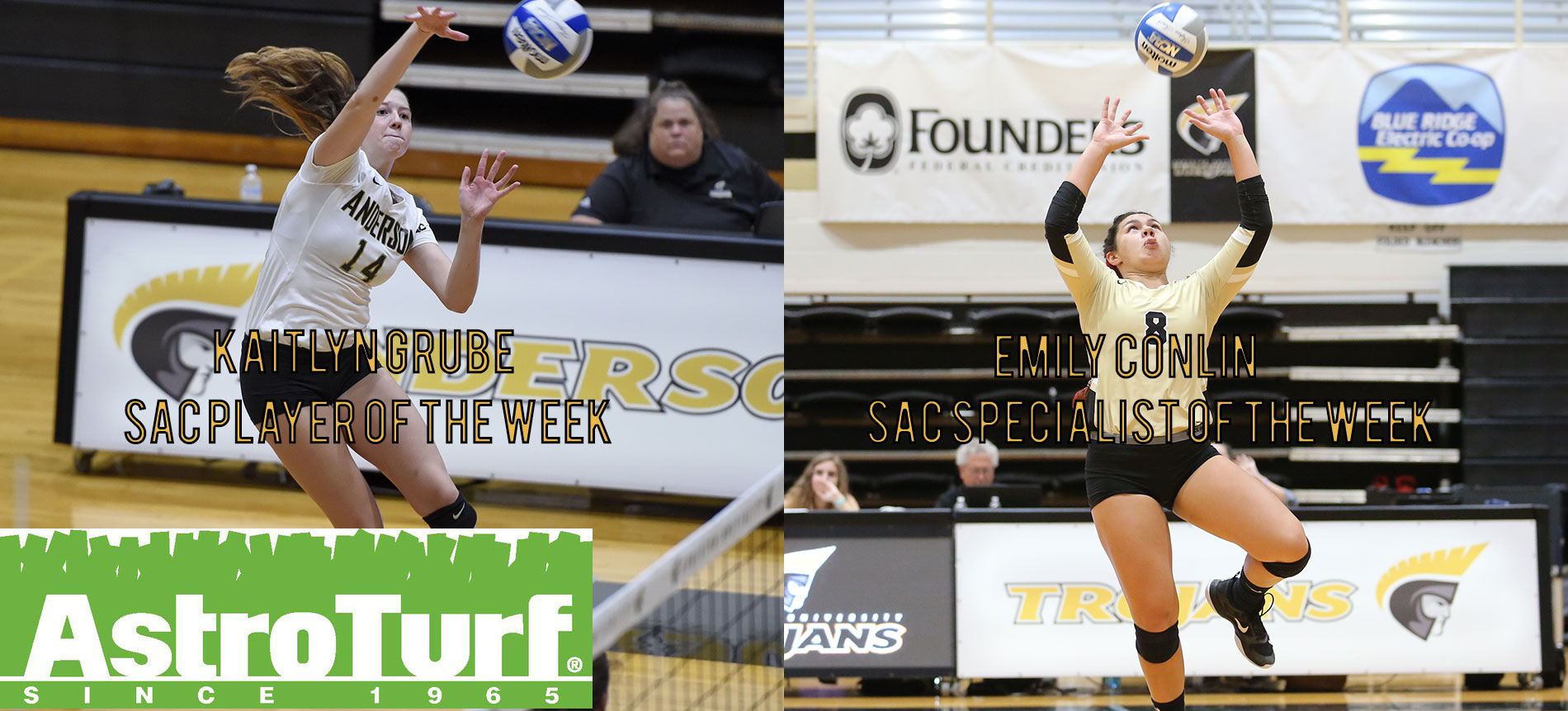 Trojans Sweep Weekly SAC Volleyball Honors