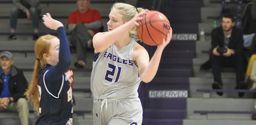 Hannah Weatherford and the Eagles lost a heart-breaker to Belhaven Thursday night.