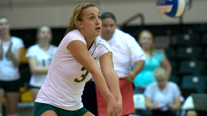 VOLLEYBALL POSTS COMEBACK 3-2 VICTORY AT PORTLAND STATE