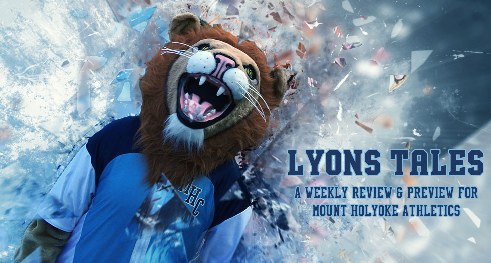 Primary image of Paws for the Lyons Tales weekly review and preview of Mount Holyoke Athletics.