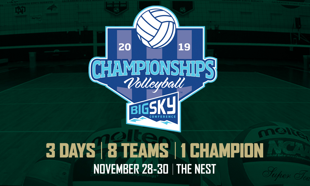 VOLLEYBALL HOSTS BIG SKY TOURNAMENT THURSDAY-SATURDAY; HOSTS MONTANA STATE ON THANKSGIVING AT 7 PM