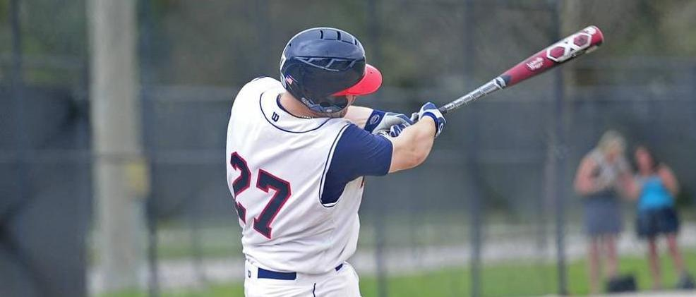 Luke Valutis had 3 hits and 3 RBIs in the game vs. Seton Hill