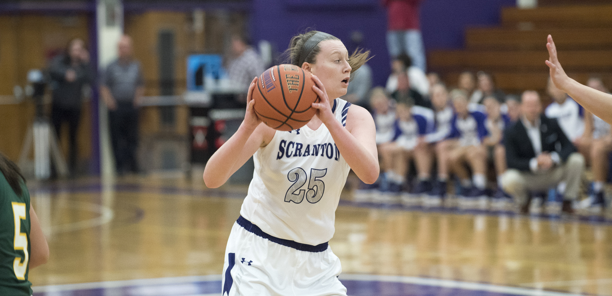 Senior center Katie Feehery had her first career triple-double on Wednesday night at Cabrini.