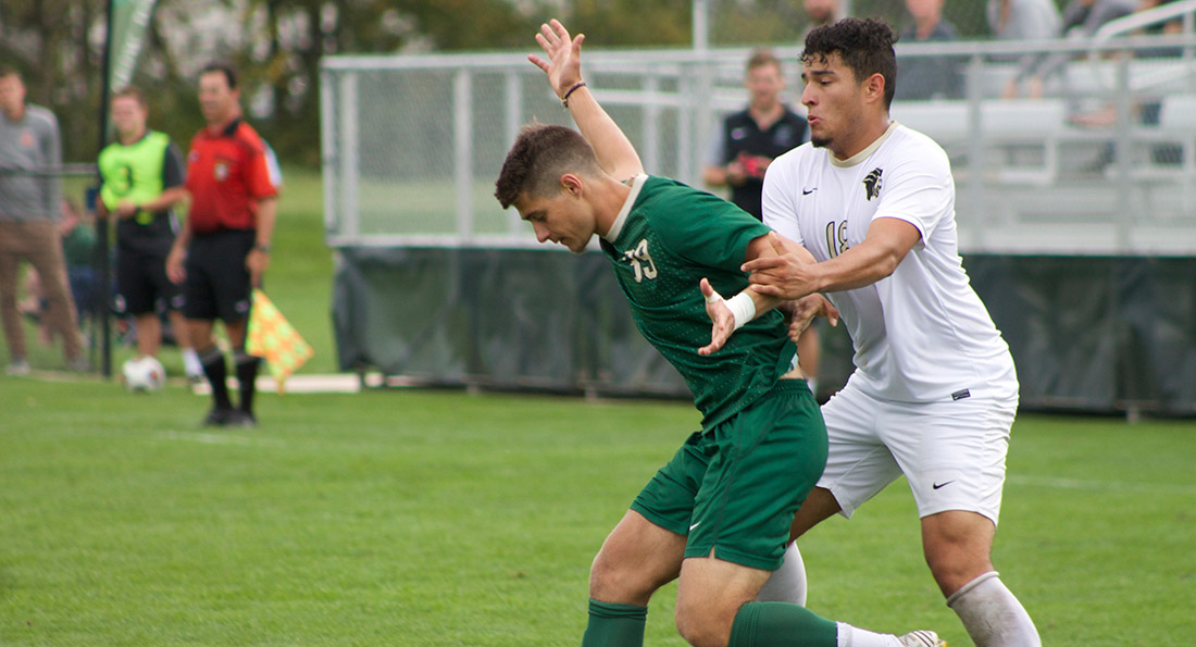Marc Albert Feliu had an assist in the narrow 3-2 loss at Saginaw Valley State.