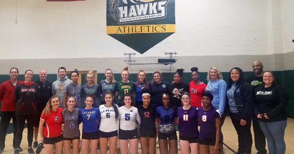 1st Annual SMAC Senior All Star Volleyball Match at  the College of Southern Maryland.