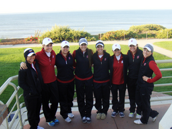 The 2011-12 Broncos shown here with the Pacific Ocean in the background.