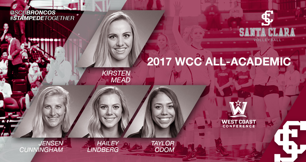 Mead Named to Third Straight WCC Volleyball All-Academic Team; Four Broncos Recognized