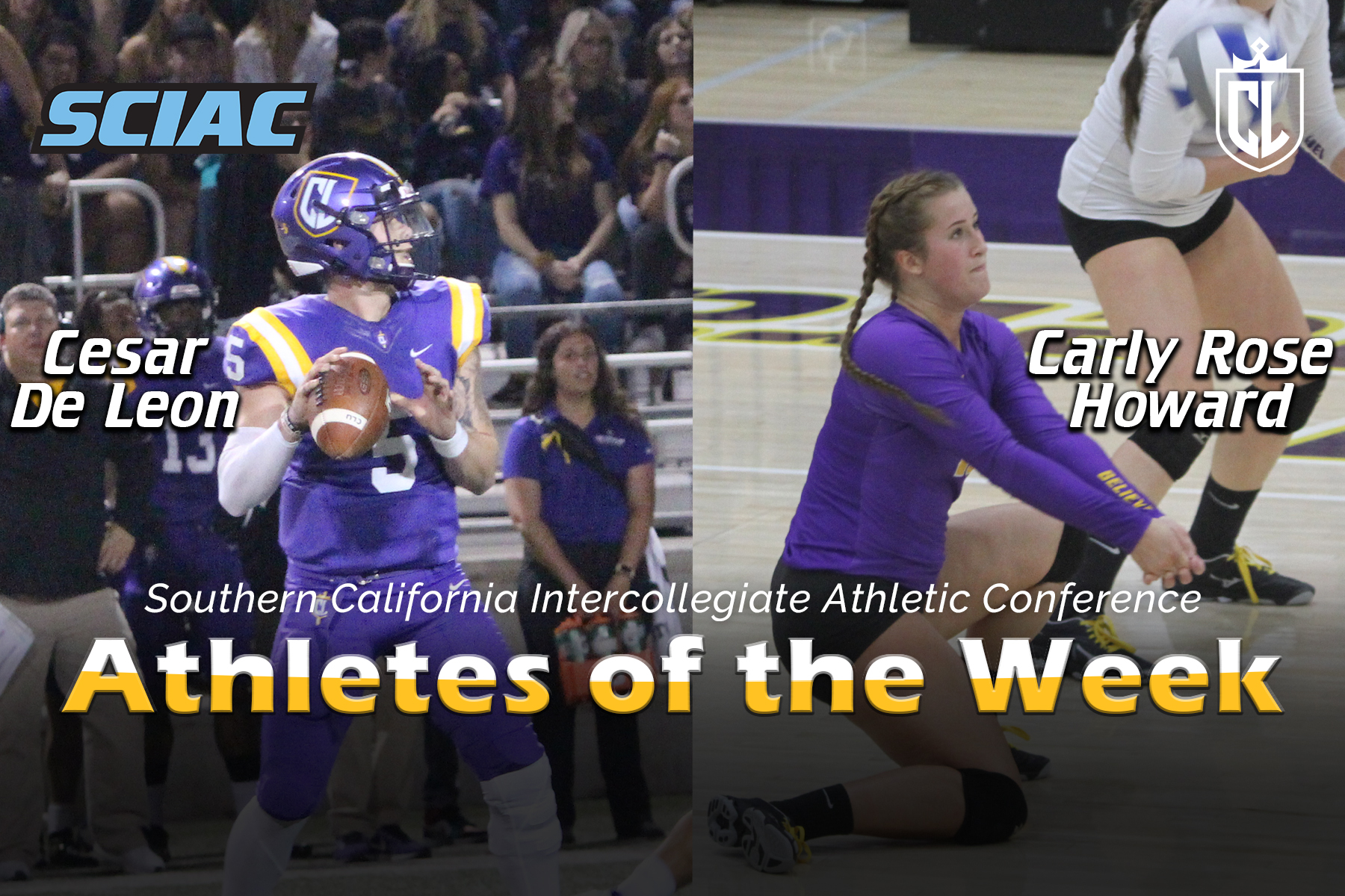 De Leon, Howard Earn SCIAC Athlete of the Week Honors