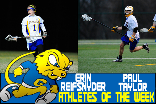 Landmark Recognizes Pair of Goucher Lacrosse Players