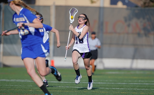 Freshman Nikole Sullivan scored two goals today in the Royals' 13-8 loss to Elmira College in upstate New York